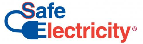 Safe Electricity red & blue logo
