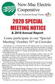 2020 Special Meeting Notice Cover Page