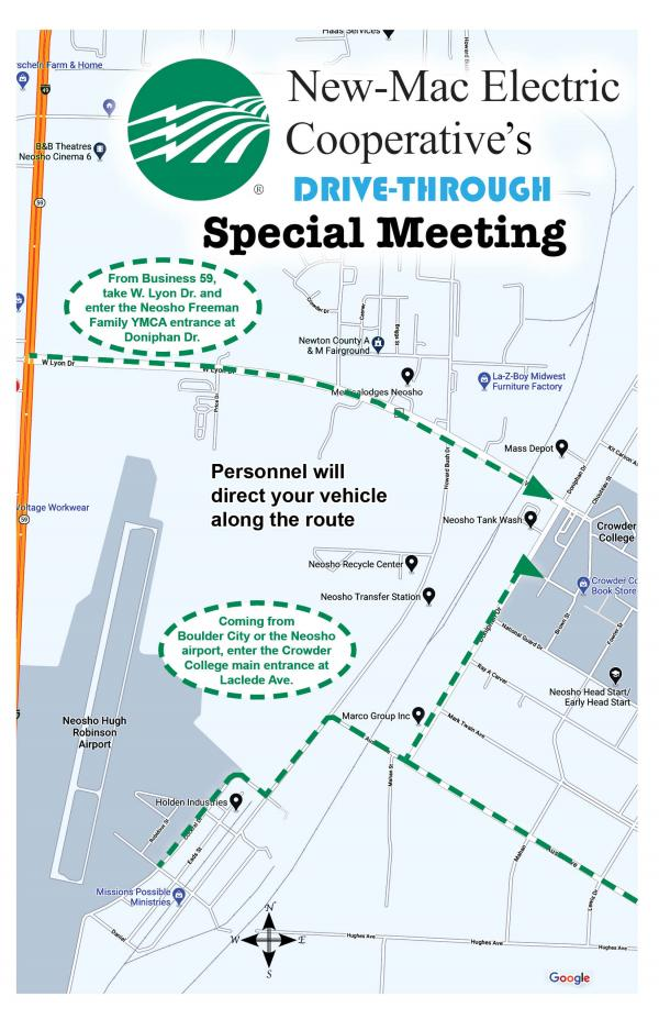 Drive-Through Special Meeting Map